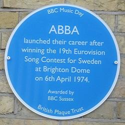 ABBA Honoured With Blue Plaque In Brighton